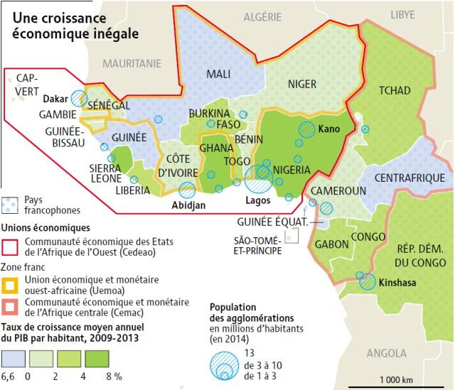zone franc-une croissance economique inegale